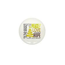 Christmas 1 Bladder Cancer Mini Button (10 pack)