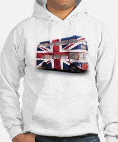 London Bus with Union Jack an Hoodie