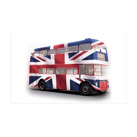 London Bus with Union Jack an 38.5 x 24.5 Wall Pee