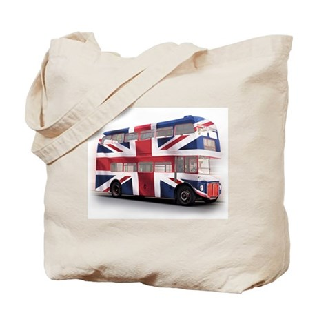 London Bus with Union Jack an Tote Bag