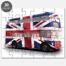 London Bus with Union Jack an Puzzle