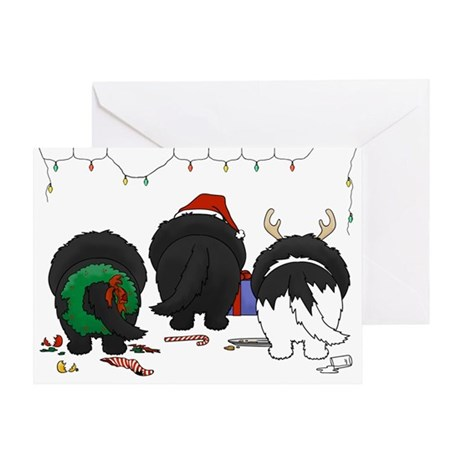 Newfie Butt Xmas Greeting Card