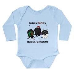 Newfie Butt Xmas Long Sleeve Infant Bodysuit
