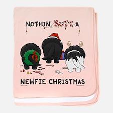 Newfie Butt Xmas baby blanket