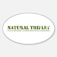 Natural Triplet Oval Decal