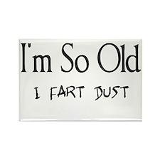 I'm So Old I Fart Dust Rectangle Magnet