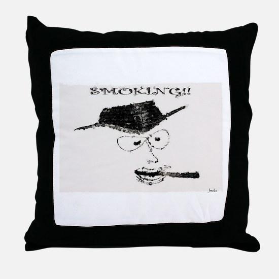 Jmcks Smoking Cowboy Throw Pillow