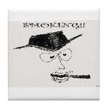 Jmcks Smoking Cowboy Tile Coaster