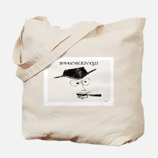 Jmcks Smoking Cowboy Tote Bag