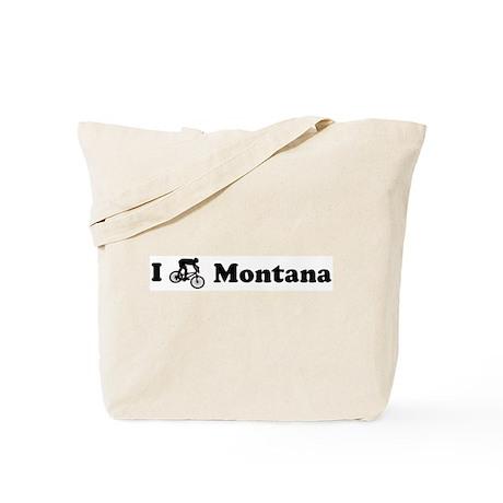 Mountain Bike Montana Tote Bag
