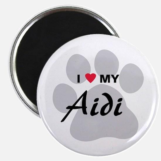 I Love My Aidi Magnet