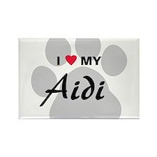 I Love My Aidi Rectangle Magnet