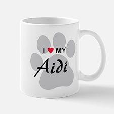 I Love My Aidi Mug
