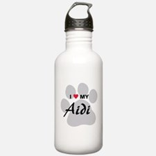 I Love My Aidi Water Bottle