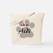 I Love My Aidi Tote Bag