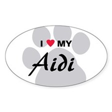 I Love My Aidi Decal