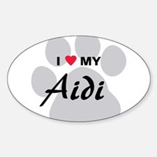 I Love My Aidi Sticker (Oval)