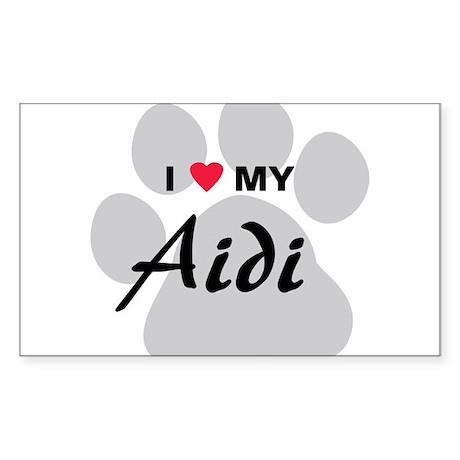 I Love My Aidi Sticker (Rectangle)