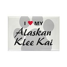 I Love My Alaskan Klee Kai Rectangle Magnet