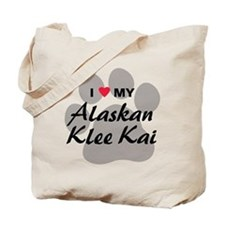 I Love My Alaskan Klee Kai Tote Bag