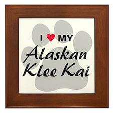 I Love My Alaskan Klee Kai Framed Tile