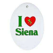 I Love Siena Oval Ornament