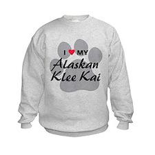 I Love My Alaskan Klee Kai Sweatshirt