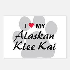 I Love My Alaskan Klee Kai Postcards (Package of 8