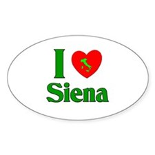 I Love Siena Oval Decal