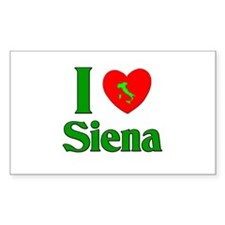 I Love Siena Rectangle Decal