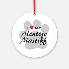 Love My Alentejo Mastiff Ornament (Round)