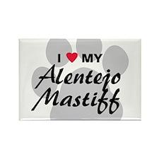 Love My Alentejo Mastiff Rectangle Magnet