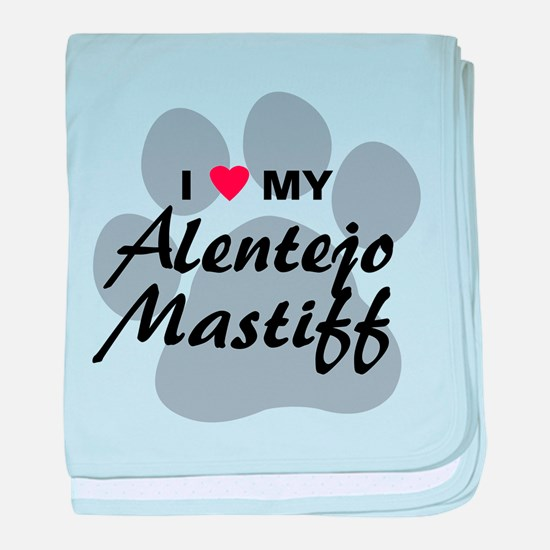 Love My Alentejo Mastiff baby blanket
