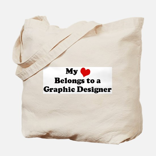 Heart Belongs: Graphic Design Tote Bag