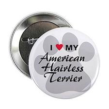 "American Hairless Terrier 2.25"" Button"
