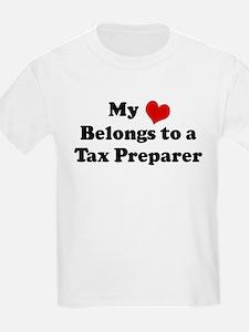 Heart Belongs: Tax Preparer Kids T-Shirt