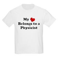 Heart Belongs: Physicist Kids T-Shirt