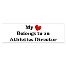 Heart Belongs: Athletics Dire Bumper Bumper Sticker