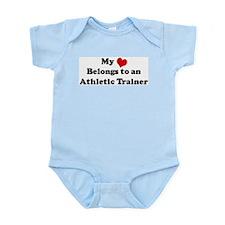 Heart Belongs: Athletic Train Infant Creeper