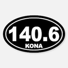 140.6 ironman kona sticker Sticker (Oval)
