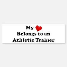 Heart Belongs: Athletic Train Bumper Bumper Bumper Sticker
