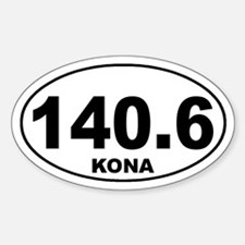 140.6 ironman kona sticker Sticker (Oval)