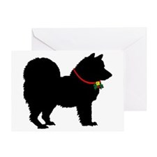Christmas or Holiday Chow Chow Silhouette Greeting