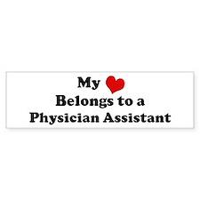 Heart Belongs: Physician Assi Bumper Bumper Sticker