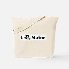 Mountain Bike Maine Tote Bag