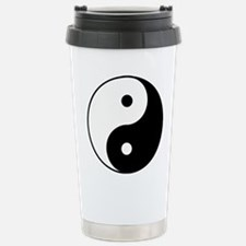 Yin Yang Stainless Steel Travel Mug