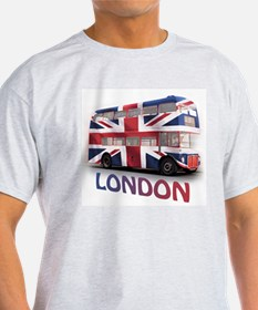 London Bus with Union Jack an T-Shirt