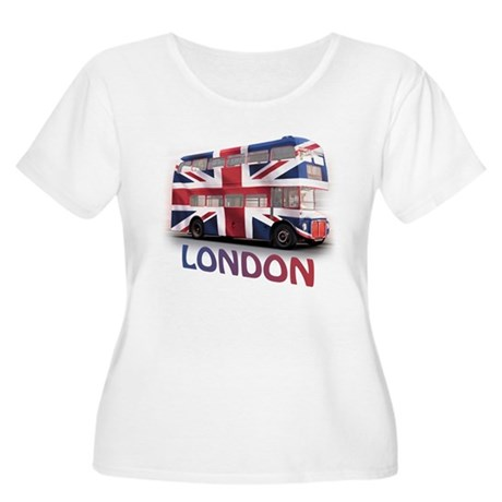 London Bus with Union Jack an Women's Plus Size Sc