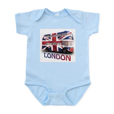 London Bus with Union Jack an Infant Bodysuit