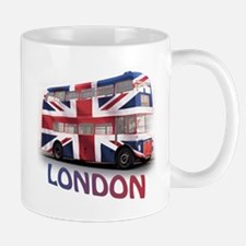 London Bus with Union Jack an Mug